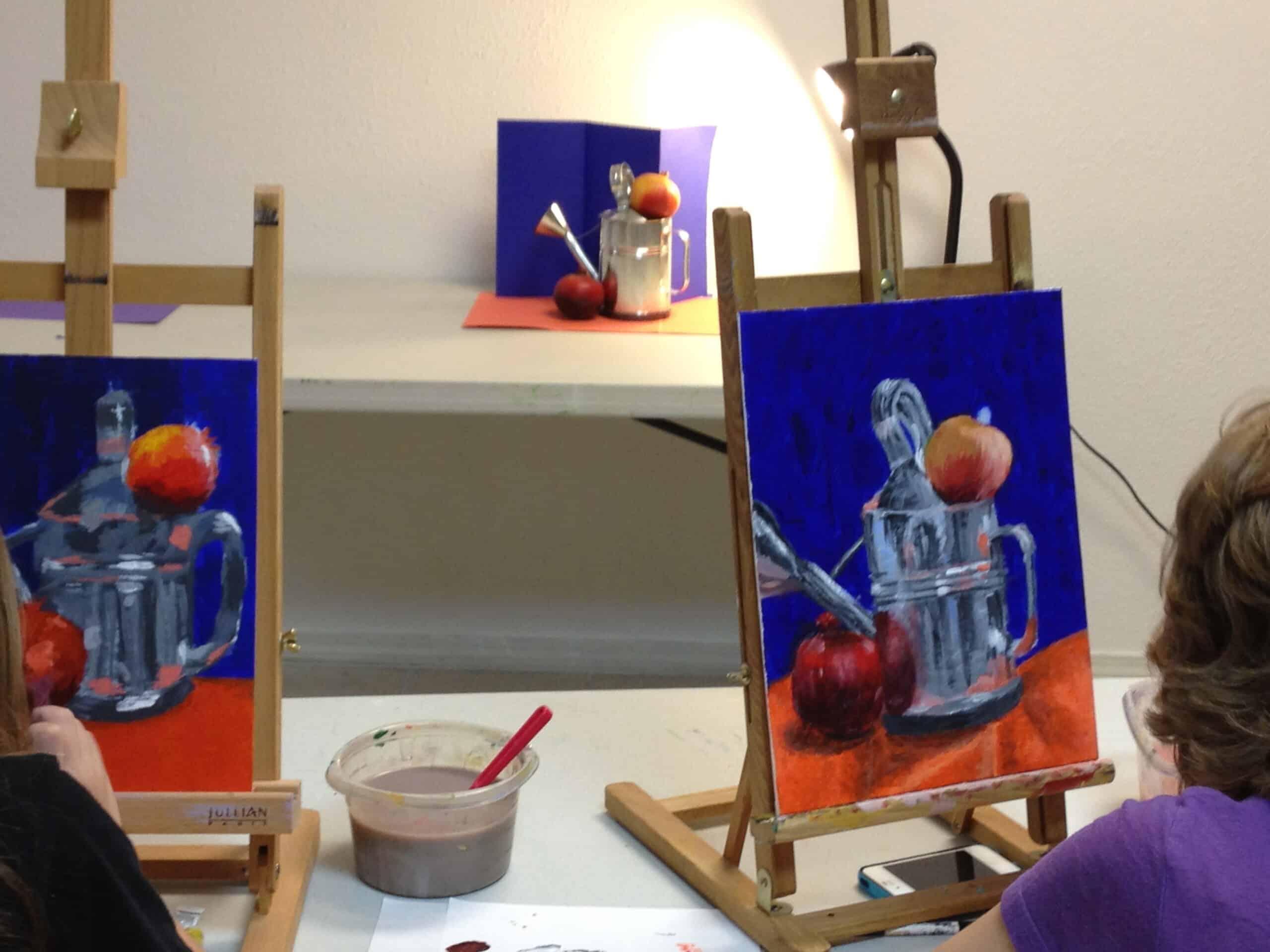 Making something look like metal with acrylic paint. Teen ...